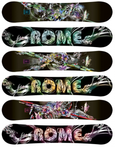 Rome Snowboards by Pomme Chan - The lovely Ms. Pomme Chan was commissioned by the creative team at Rome SDS to illustrate the new…