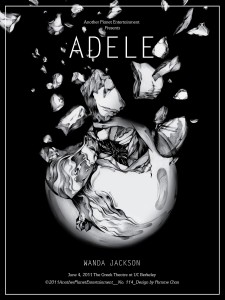 Adele gig poster by Pomme Chan - Another Planet Entertainment commissioned Ms. Pomme Chan to create this gig poster as a gift for Adele, for her…