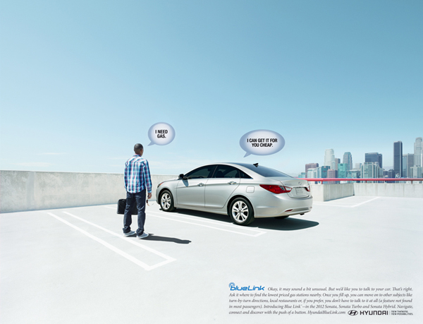 Hyundai ads shot by Nick Meek - Have a conversation with your new Sonata!  Nick Meek shot this campaign in LA for the new (talking) Hyundai…