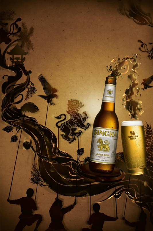 Pomme Chan: Singha Beer - Artist Pomme Chan created the illustrations for Singha Beer's UK National campaign.  The concept of  the campaign is about…