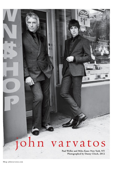Danny Clinch: Varvatos Fall/Winter 2012 Campaign - Photographer Danny Clinch shot musi­cians Paul Weller and Miles Kane on the Lower East Side of NYC…