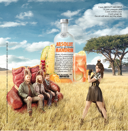 Sacha Waldman: Absolut Punch - Photographer Sacha Waldman worked with TBWA Chiat Day on this Absolut Punch ad featuring Little Dragon.  Stay tuned…