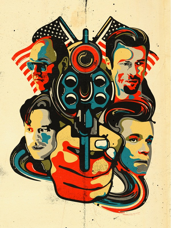 """Steve Wilson: Killing Them Softly - Steve Wilson illustrated this smashing piece for Anthony Lane's review of """"Killing Them Softly"""" in The Current Cinema…"""