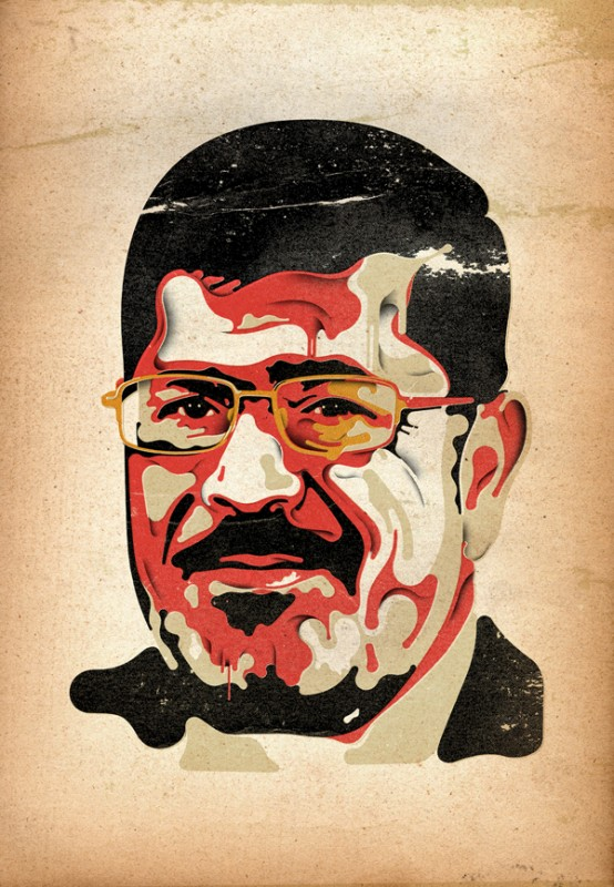 Steve Wilson: Time - Steve Wilson illustrated this portrait for an article in Time about Egypts president, Mohamed Morsi. Morsi was elected…