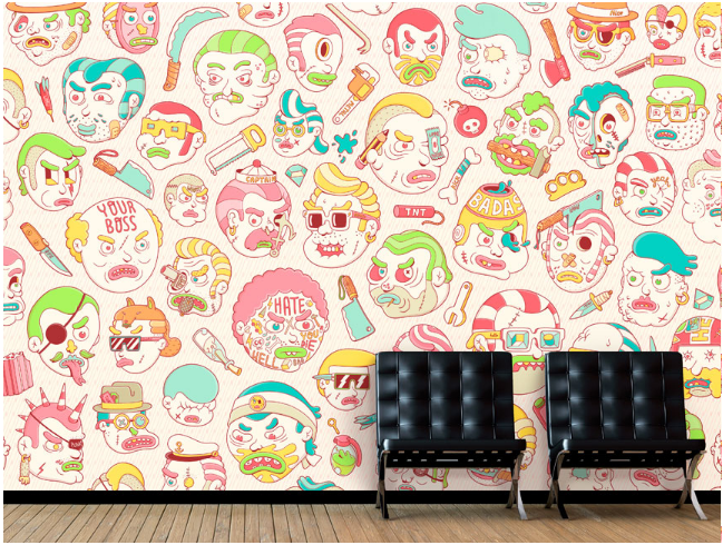 Brosmind: The Wallery - Brosmind illustrated these killer wallpaper patterns available for purchase onThe Wallery. The bros designed a world of crime…