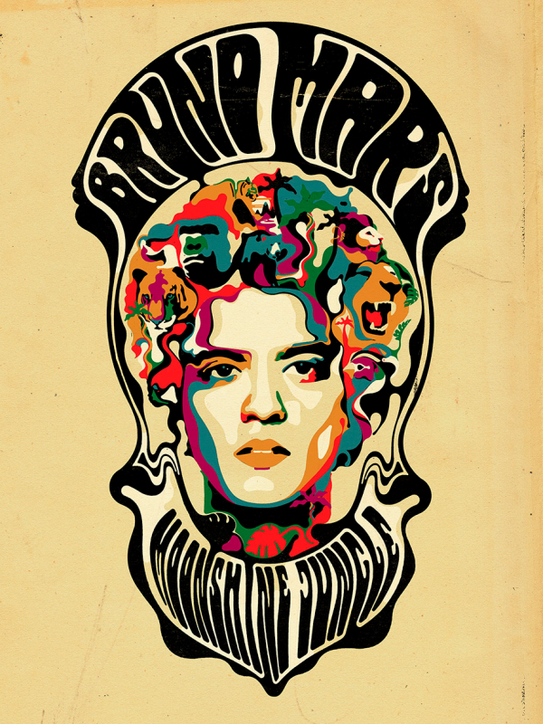Steve Wilson: Bruno Mars - Steve Wilson collaborated with Atlantic Records to create this promotional piece for Bruno Mars' new album tour.