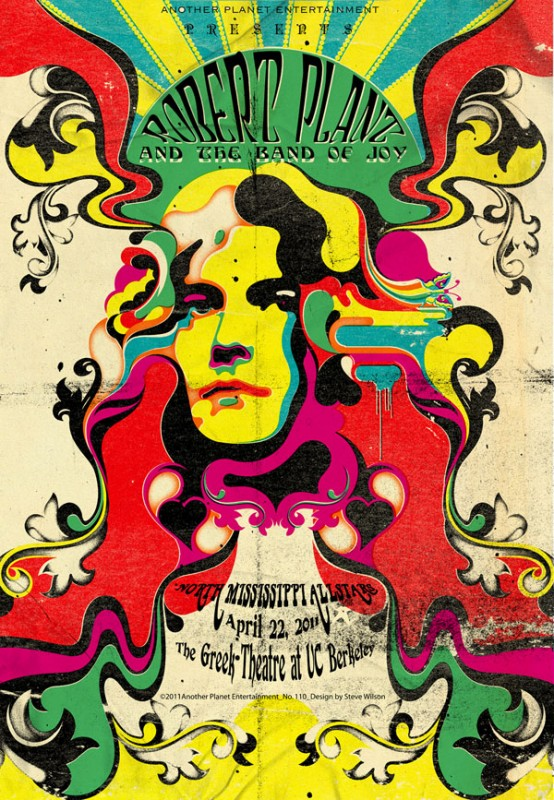 """Steve Wilson: Robert Plant - """"Steve's work is loaded with bright and vivid imagination and many styles.His representation of me and my world is perfect.Stylistically…"""