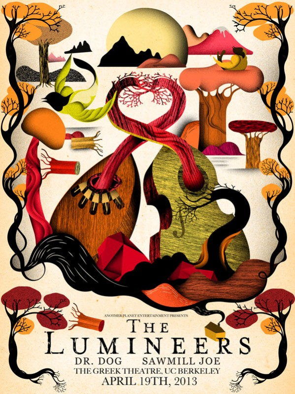 Steve Wilson: The Lumineers - Another Planet Entertainment hired Steve Wilson to illustrate this gig poster for The Lumineers show at The…