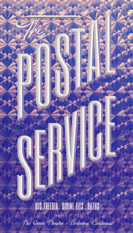 Sean Freeman: The Postal Service - Sean Freeman was commissioned by Another Planet Entertainment to create this retro-inspired gig poster for The Postal…