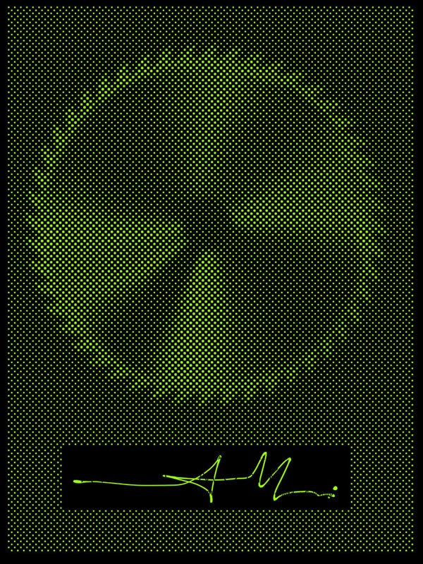 Alex Trochut: Arctic Monkeys - Alex Trochut applied the special technique he developed for hisbinary-prints seriesto create this glow-in-the-darkgig poster for the…
