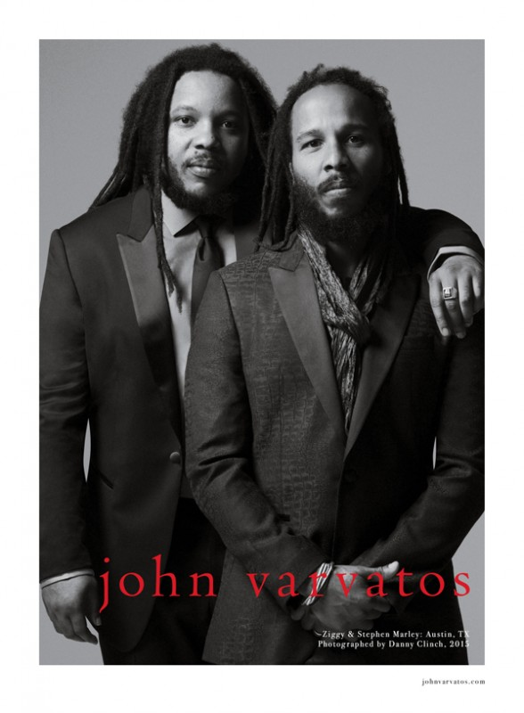 Danny Clinch: John Varvatos Spring 2015 - The latest John Varvatos campaign, featuring Ziggy and Stephen Marley, follows 21 seasons conceived by Yard and photographed by…