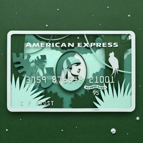 "Owen Gildersleeve : American Express - Paper cutter and illustrator Owen Gildersleeve was commissioned by American Express to share his interpretation of ""The Great Outdoors"" using their…"