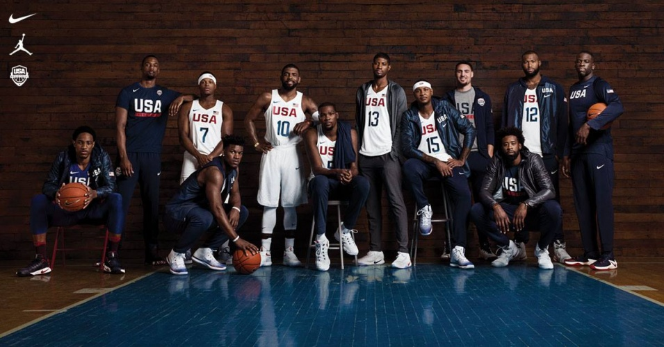 Danny Clinch : Nike : 2016 Olympics - Photographer Danny Clinch had the pleasure of shootingthe official portrait of the 2016 USA Olympic basketball team, sponsored by Nike.