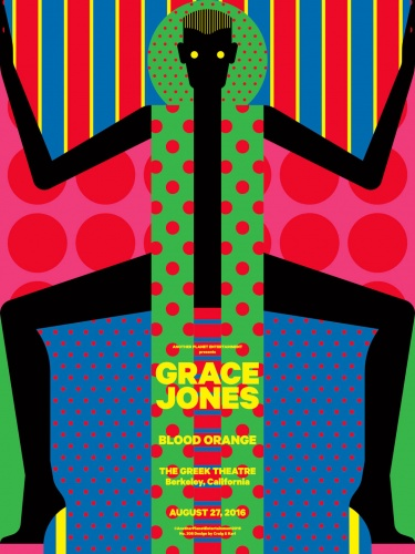 Craig & Karl : Grace Jones - Another Planet Entertainment recently commissioned Craig & Karl to create this gig poster for last week's performance by Grace Jones…