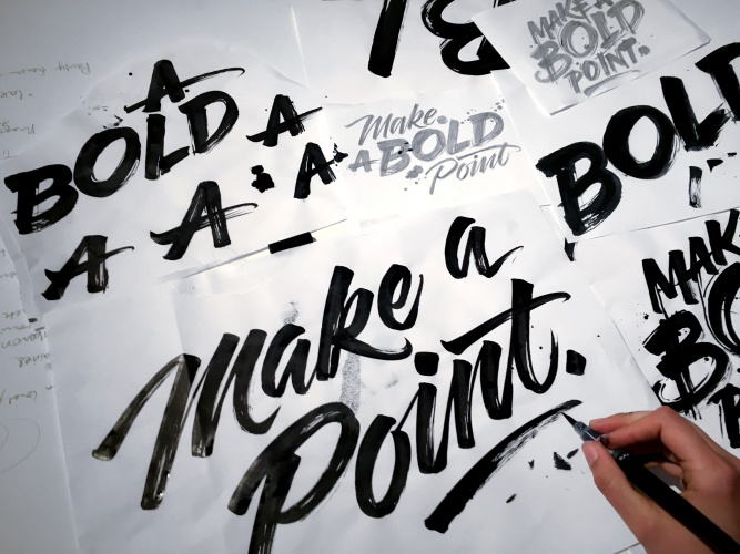 Gemma O'Brien: Pentel - Artist Gemma O'Brien makes a point with this new body of work. Recently commissioned by stationary company Pentel, Gemma applied…