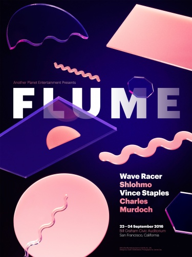 James Day : Owen Gildersleeve : Flume - Photographer James Day and designer/illustrator Owen Gildersleeve joined forces on the assignment to create a gig poster for Flume's show…
