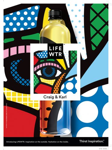 Craig & Karl : Lifewater - PepsiCo has introduced Lifewtr, a new premium water brand with exceptional packaging.  The labels will feature artwork where the brand name…