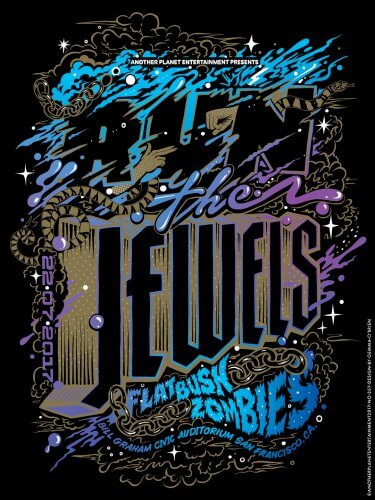 Gemma O'Brien : Run The Jewels - Artist Gemma O'Brien was commissioned by Another Planet Entertainment to create this gig poster for Run The Jewels' show at…
