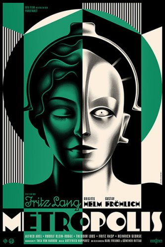 La Boca : Metropolis - Design studio La Boca created this poster in celebration of the 90th anniversary of Fritz Lang's epic science-fiction drama film Metropolis.