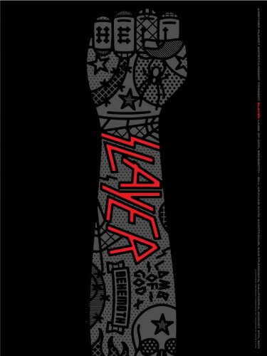 Craig & Karl : Slayer - Another Planet Entertainment commissioned design duo Craig & Karl to create this graphic gig posteras a gift for the band…