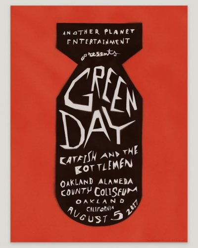 Pablo Delcan : Green Day - Designer Pablo Delcan created this gig poster for Green Day's show at the Oakland Coliseum, a gift to the band…