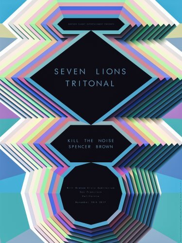 Steven Wilson : Seven Lions / Tritonal - Illustrator Steve Wilson was commissioned by the team at Another Planet Entertainment to create this colorful, dimensional gig poster for…