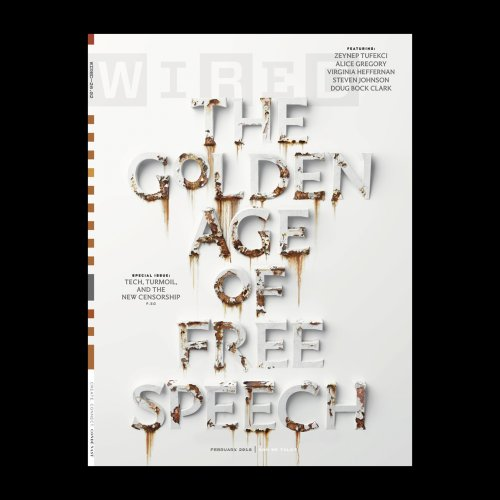 Sean Freeman : Wired Magazine - Sean Freeman and his creative partner Eve Steben used flakes of rust to create a very realistic corroding type-driven cover…