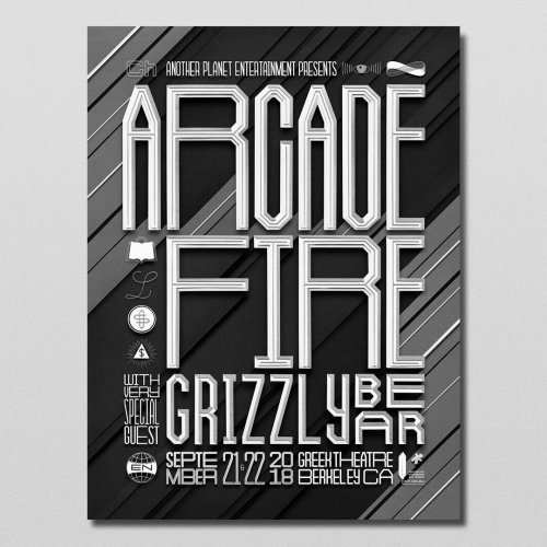 Owen Gildersleeve: Arcade Fire - The team at Another Planet Entertainment (APE) called on illustrator/ paper artist Owen Gildersleeve to create a limited edition poster…