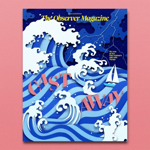 Owen Gildersleeve: The Observer, Cast Away - Paper crafting illustrator Owen Gildersleeve created the new cover artwork for The Observer Magazine. This issue's feature article is about…