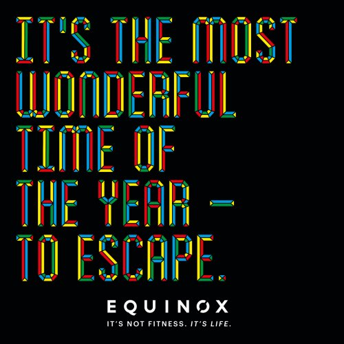 Steve Wilson : Equinox - Illustrator Steve Wilson worked directly with the team at Equinox on this colorful, type-driven winter campaign. A little extra inspo…