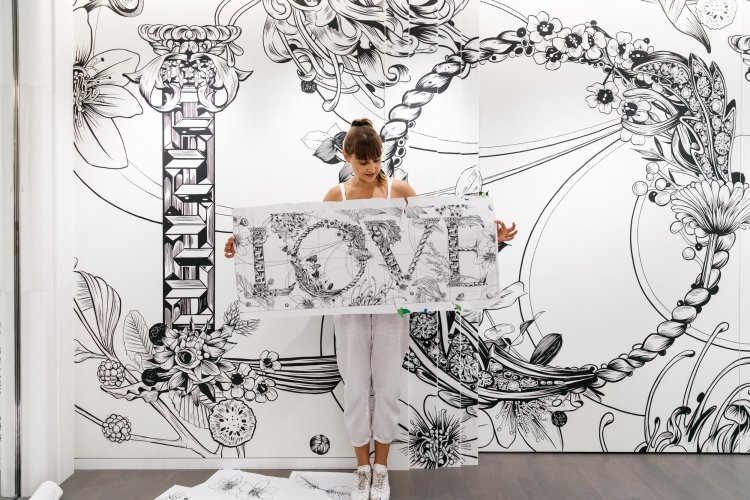 Gemma O'Brien: Tiffany & Co, LOVE - Illustrator and typography guru Gemma O'Brien was selected by Tiffany and Co. to create the new artwork for their flagship…