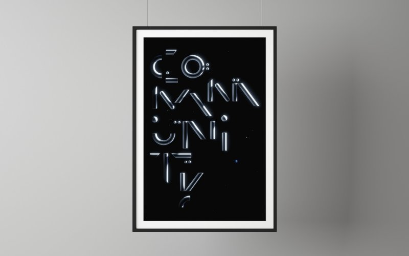 Sawdust: Community Poster - Design studio Sawdust created this Community poster in homage to Carl Sagan's book 'Pale Blue Dot.' Sagan was inspired by…