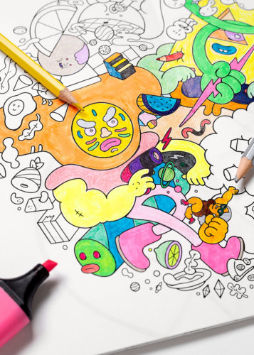 Brosmind Coloring Books! - Illustration duo Brosmind have designed and produced their first ever coloring book! The limited edition books are both a collection…