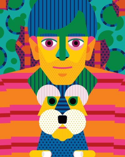 Craig & Karl: Pets - Illustration duo Craig & Karl's latest personal project is an homage to our furry friends: Cats, Dogs, and Birds.