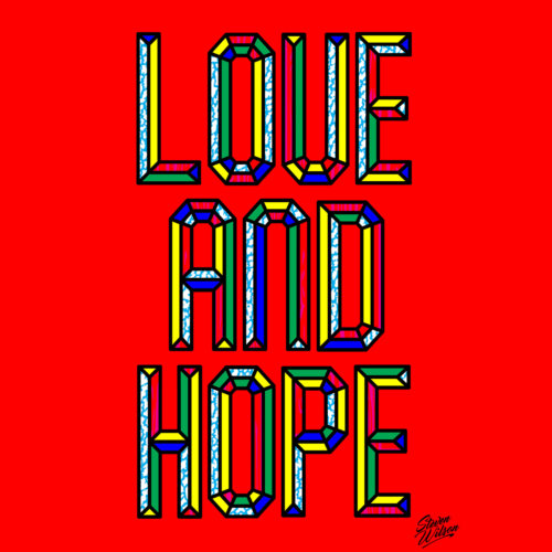 Steve Wilson: Love & Hope - Illustrator Steve Wilson was commissioned by WWD Korea to create a series of posters for their Love & Hope campaign.