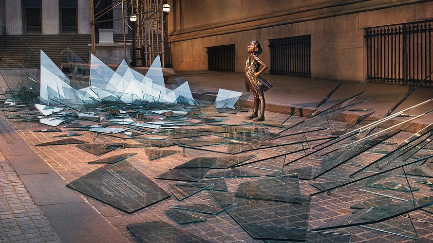 Sophy Holland: Fearless Girl's Shattered Ceiling - Photographer Sophy Holland was commissioned by State Street Global Advisors through McCann Worldwide to photograph the latest installation around the…