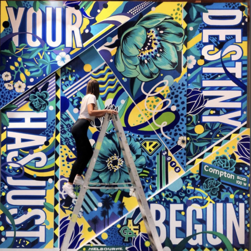 Gemma O'Brien: 'Your Destiny Has Just Begun' Nike Mural - Illustration and lettering artist Gemma O'Brien was commissioned by Nike to create a mural for the new Serena Williams building…